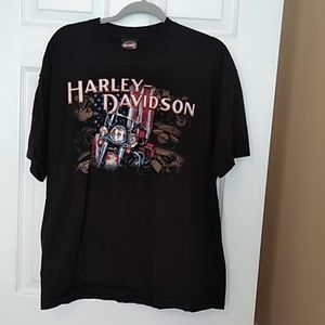 Men's XL Patriotic USA SS Harley Davidson T-shirt